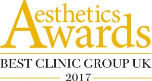 Best Clinic Group UK 2017 aesthetic Award the private clinic 300x160 1