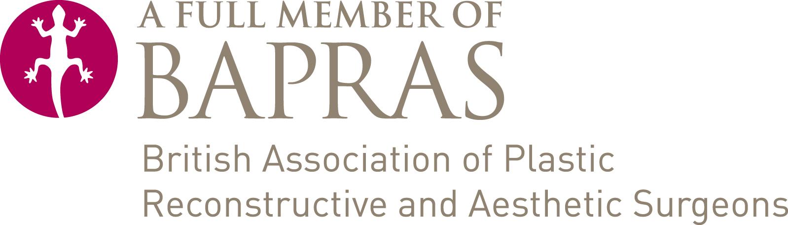 bapras british association of plastic reconstructive and aesthetic surgeons member