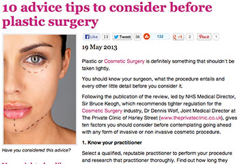 news 10 advice tips to consider before undergoing plastic surgery the private clinic