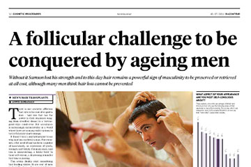 news a follicular challenge to be conquered by ageing men the private clinic