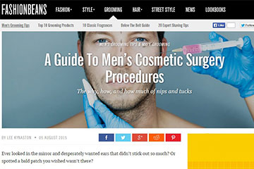 news a guide to mens cosmetic surgery procedures the private clinic