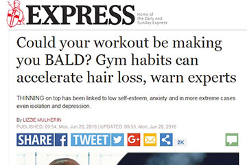 news could your workout be making you bald the private clinic