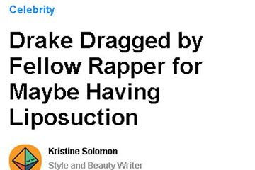 news drake dragged by fellow rapper for maybe having liposuction the private clinic