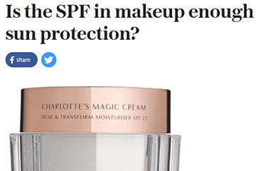 news is the SPF in makeup enough sun protection the private clinic