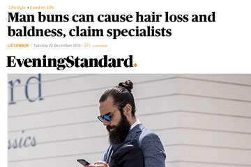 news man buns can cause hair loss and baldness claim specialists the private clinic