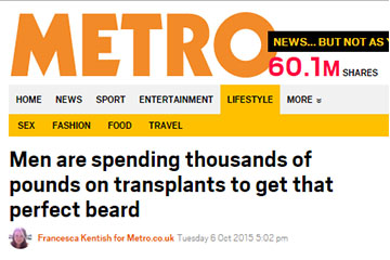 news men are spending thousands of pounds to get that perfect beard the private clinic