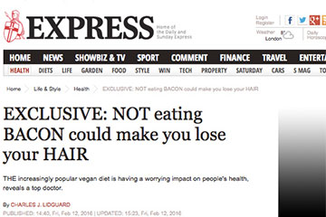 news not eating bacon could make you lose your hair the private clinic