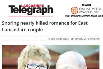 news snoring nearly killed romance for east lancashire couple the private clinic