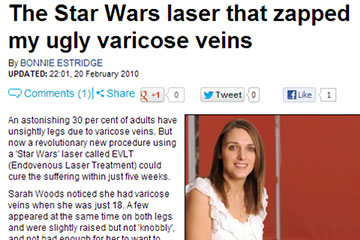 news the star wars laser that zapped my ugly varicose veins the private clinic