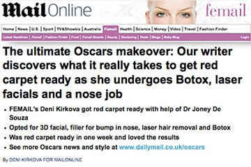 news the ultimate oscars makeover the private clinic