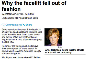 news why the facelift fell out of fashion the private clinic