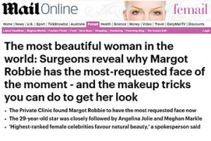 surgeons reveal why magot robbie has the most requested face