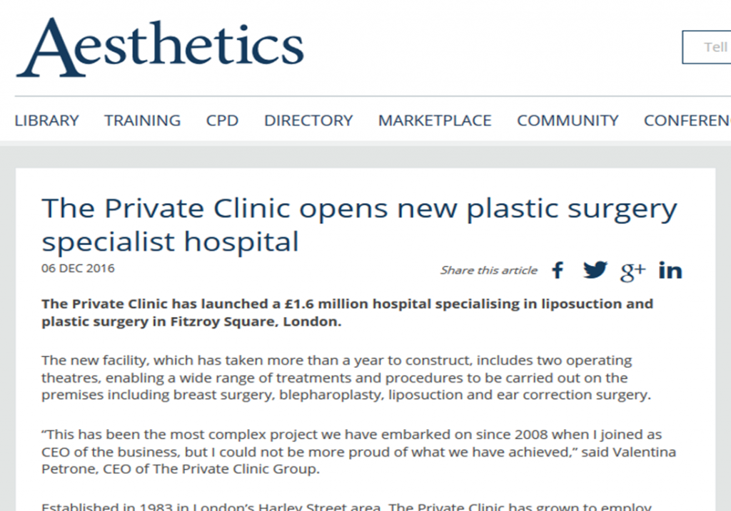 the private clinic opens new plastic surgery specialist hospital aesthetics 1024x717 1