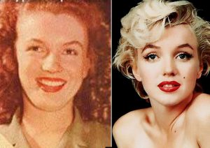 Marilyn Monroe famously underwent rhinoplasty and a chin implant.