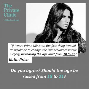 Katie Price - age of cosmetic surgery should be 21 instagram the private clinic