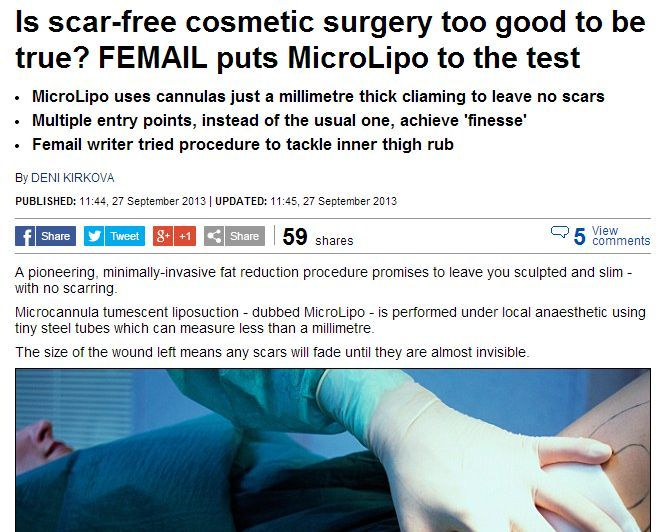 MicroLipo Reviewed in the Daily Mail Sep 2013