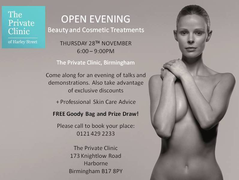 Birmingham open evening at The Private Clinic