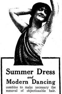 harper's bazaar 1915 hair removal