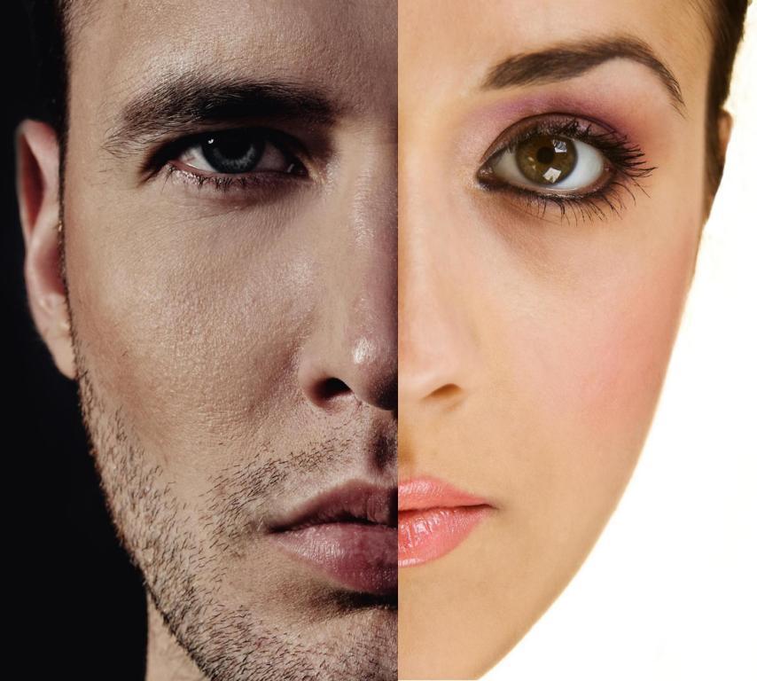 male vs female skin