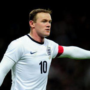 Wayne Rooney's fuller locks during an England match